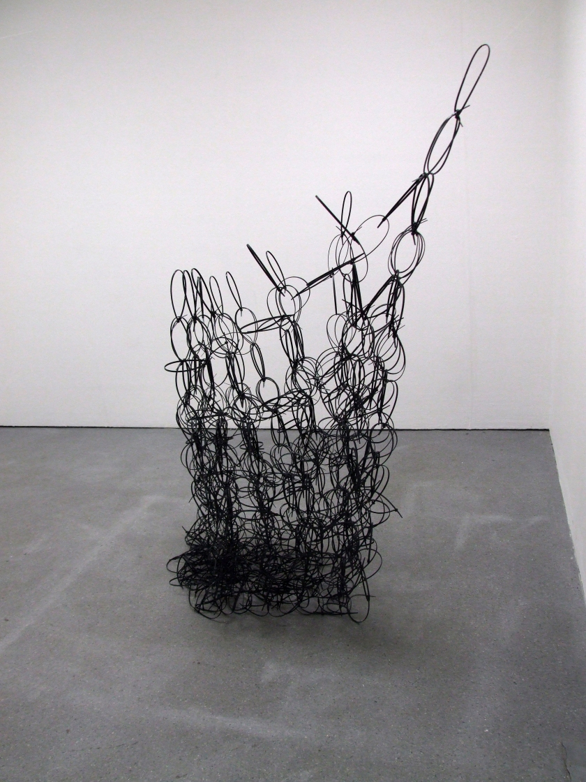Dark Matter (2013) Nylon cable ties (collapsed)  175 x 145 x 145 cm