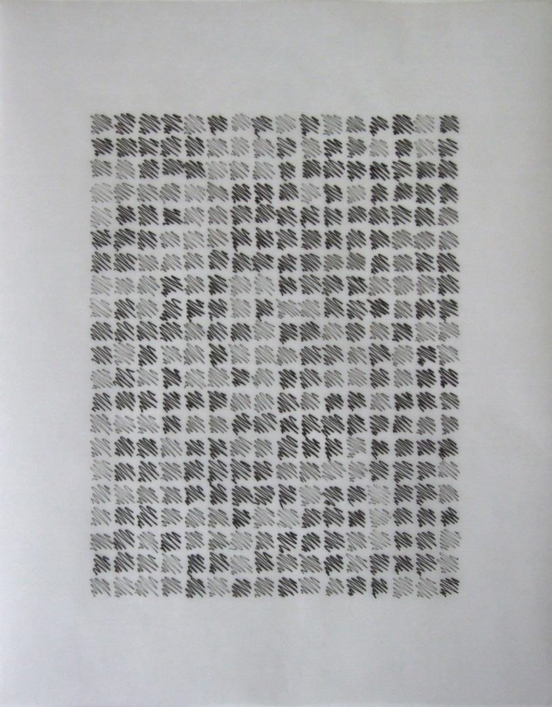 Etude VI (2012) Indian Ink on translucent paper 30.5 x 24 cm