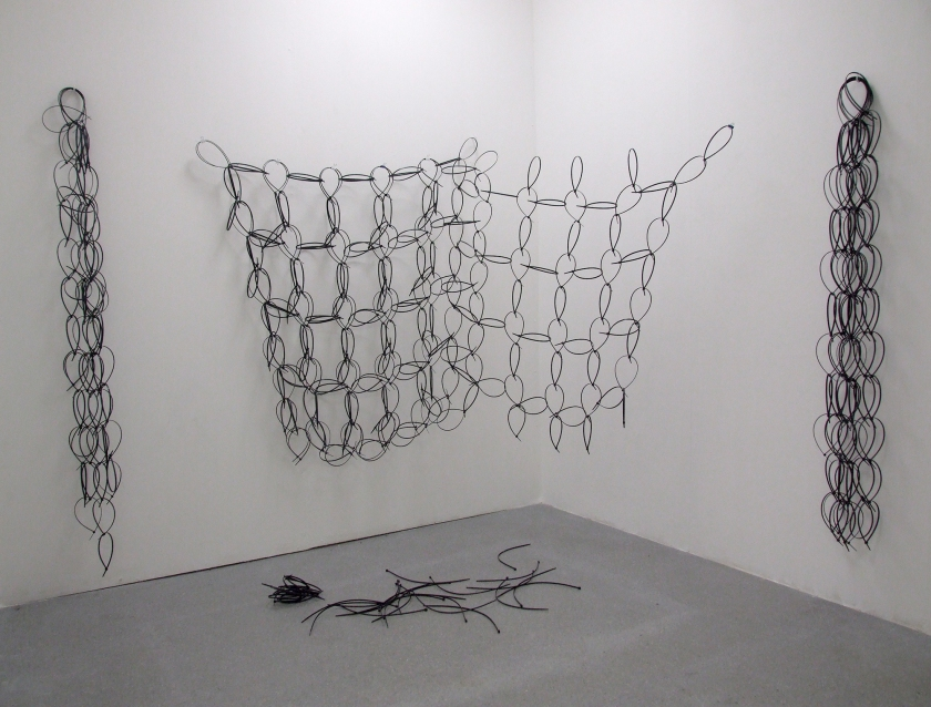 Untitled (2013) Nylon cable ties dimensions variable